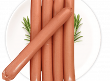 Salsicha de Grão de Bico Vegana  - Foto 1